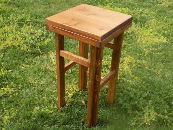 Sgabello in legno noce nolo service